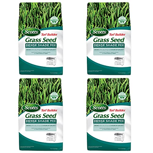 Scotts Turf Builder Grass Seed Dense Shade Mix for Tall Fescue Lawns, 7 lbs. (4-Pack)