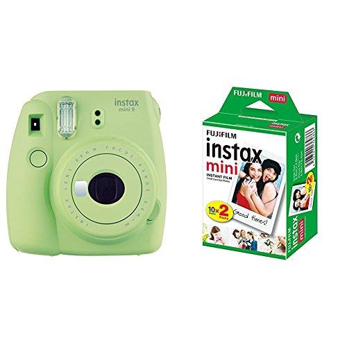Fujifilm Instax Mini 9 Kamera, lime grün mit Film