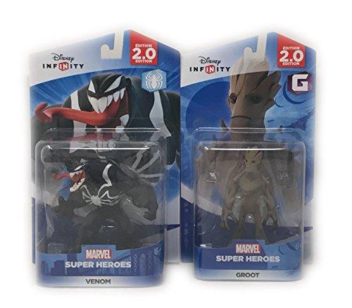 Disney Infinity Groot & Venom Figurines 2.0 Edition