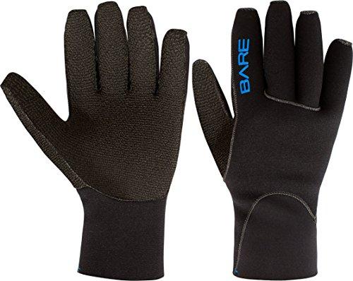 Bare Unisex Tauchhandschuhe, 3 mm, Fünffinger, K-Palm, Größe M, Schwarz