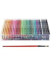 210 Adet Renkli Kurşun Kalem Seti, Suda Çözünür Çekirdek Renkli Kalemler, Profesyonel Boyama Renkli Kalemler 210 Renk Sanat Çizimi Grafiti Araçları Yetişkin Boyama Kitapları/Çizim/Boyama için