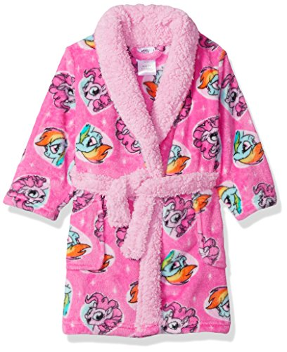 My Little Pony Toddler Girls' Luxe Plush Robe, Pony Pink, 4T
