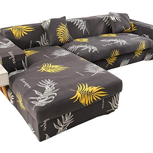 Chinejaper - Funda elástica para sofá en forma de L, funda elástica clásica a prueba de polvo, protector de muebles para decoración del hogar