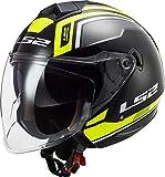 Casco da moto LS2 OF573 TWISTER II FLIX BLACK H-V YELLOW, Nero/Giallo, M