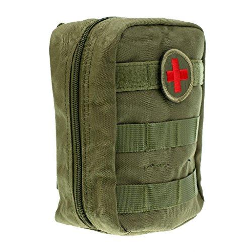MagiDeal Pochette Tactique Molle EMT Médecine EMS Paramédicale Sac de Survie d'Urgence Kit de Premier Secours Attache à Ceinture - armée Verte, 22 x 19,8 x 4 cm