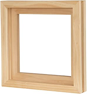 KAIU Vinyl Record Frame - Solid Wood with Clear Acrylic to Display Your Album- Innovative Open/Close Mechanism to Ease Your Album Changeover (Natural, Singles)