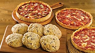 6 Carol's Cookies & 3 Lou Malnati'sChicago-Style Deep Dish Pizzas (1 Cheese 1 Sausage 1 Pepperoni)