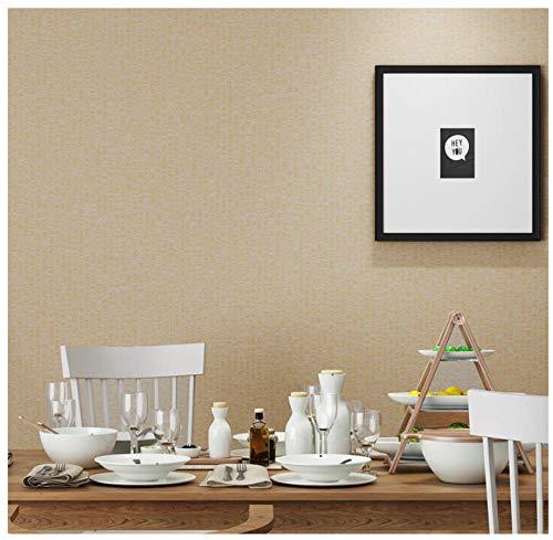 Vliesbehang - eenvoudige krijtstrepen - 0,53x10m behang voor moderne eenvoud slaapkamer woonkamer TV achtergrond wand-kinderen kameruitgang decoratie bruin