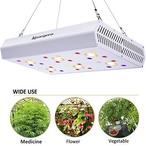 HIPARGERO LED Grow Light - 1200W COB LED Grow Lights Full Spectrum with UV IR 3000K COBs 3W Osram Chips for Indoor Plants Veg Flower Lighting