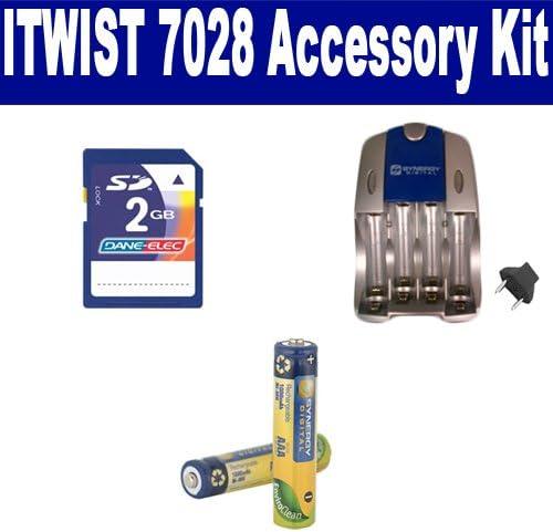 Vivitar iTwist Arlington Mall 7028 Digital Camera Kit Accessory Max 67% OFF Includes: SB202