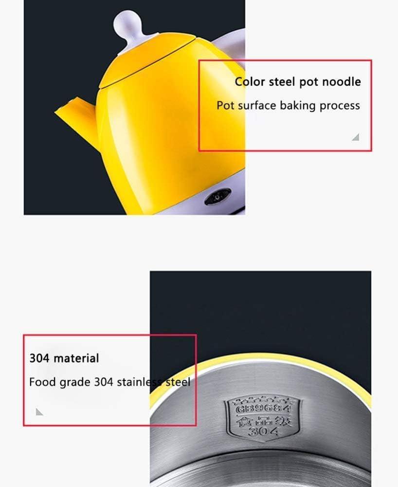 Dmqpp Pratique électrique en Acier Inoxydable brossé Bouilloire, poignée Ouverte, 1000 W, 1,0 Litre, arrêt Automatique Anti-Marche à Sec, sans BPA (Color : Blue) Pink