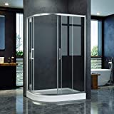 <span class='highlight'>ELEGANT</span> <span class='highlight'>1200</span> x 800<span class='highlight'>mm</span> Left Offset <span class='highlight'>Quadrant</span> Shower Enclosure 8<span class='highlight'>mm</span> Easy Clean Glass Sliding Shower Door w/<span class='highlight'>Tray</span> Waste Riser