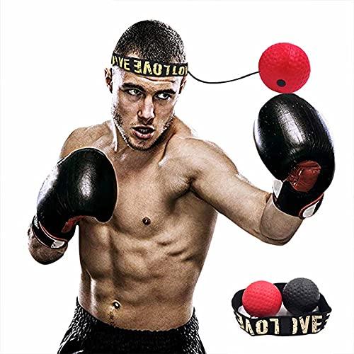 GAOword Box-Reflexball-Trainingsgerät Zur Verbesserung Der Reaktionsgeschwindigkeit Und Der Hand-Augen-Koordination, Geeignet Für Das Training Zu Hause - Boxgeräte (2 Stück)