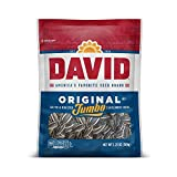 DAVID SEEDS Roasted and Salted Original Jumbo Sunflower Seeds, Keto Friendly, 5.25 Oz, 12 Pack
