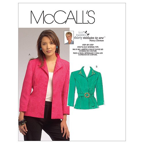 McCall's, Cartamodelli per Giacca Donna Stap by Step, Istruzioni in Inglese