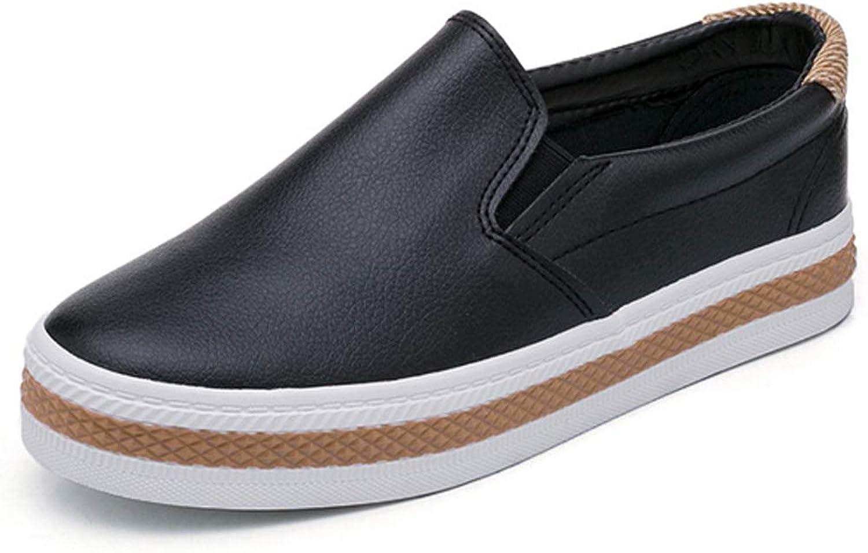 THBM New Women's Fashion Flats Casual Comfortale Slip On shoes Balck White Ladies Flat Platform Loafers