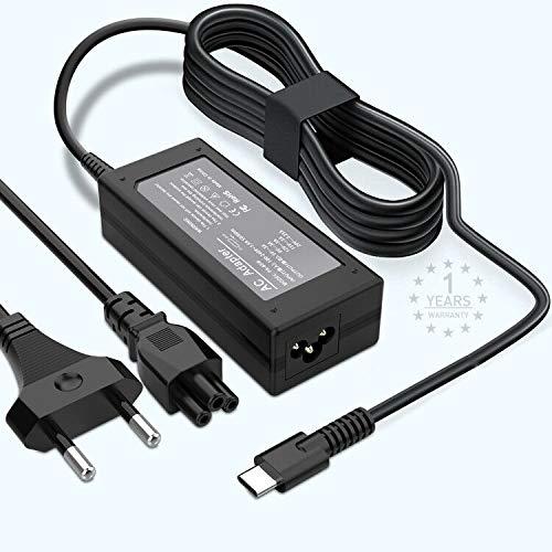 Cargador USB tipo C 65W / 45W, cargador de fuente de alimentación USB C de 65W para Lenovo ThinkPad, Mac book Pro, Samsung, ASUS, Dell, Chromebook, Yoga, Ace, Huawei y más dispositivos USB tipo C