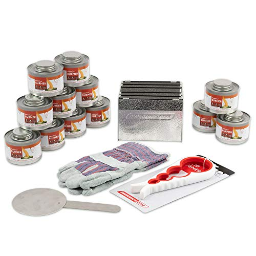 New & Improved! Emergency Cooking Fuel Storage Set with Stove, 20+ Year Shelf Life. 12 Fuel Cans Pack