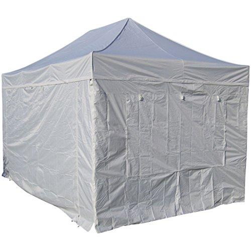 3x4,5m ALU Profi Faltzelt Marktzelt Marktstand Tent 40mm Quad mit Metallgelenken und FEUERHEMMENDEN PLANEN von AS-S