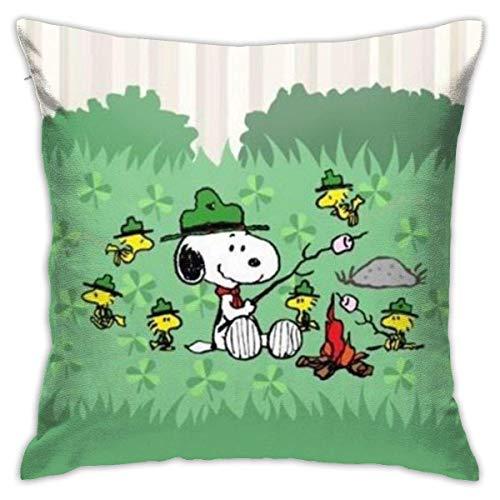 nxnx Snoppy - Juego de fundas de cojín decorativas de 45,7 x 45,7 cm, forma cuadrada, para sofá, sofá, juego de almohada