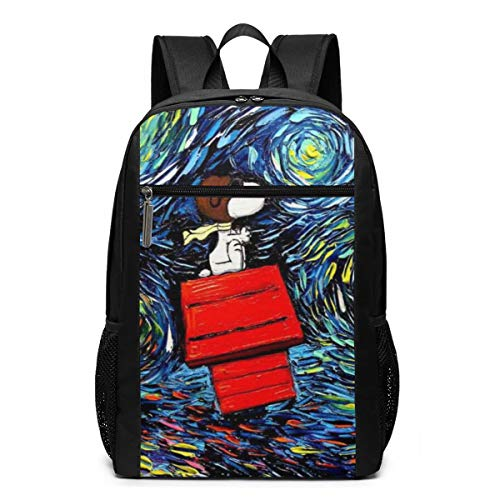 Anime Cartoon Snoopy Travel Water Resistant Bookbag Fits under 17' Laptop School Bag per uomo donna
