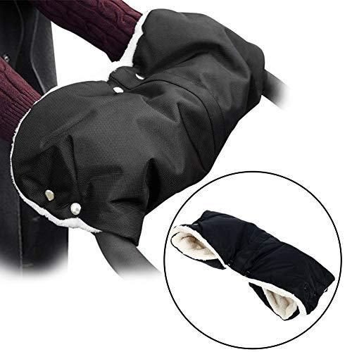 upain Pram Hand Muff Zwart Pushchair Hand Muff Baby Kinderwagen Handschoenen voor Winter Koud Weer