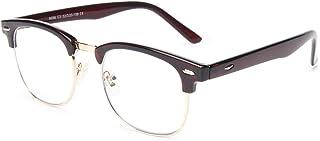 عینک مسدود کننده نور آبی Livhò ، لنزهای شفاف UV400 ، عینک خواندن رایانه تلفن ، ضد چشم / ضد اشعه ، خواب بهتر برای زنان / آقایان (چای) LI8056-0.0 بزرگنمایی