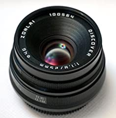 Fast f1.8 aperture 'normal' lens Yields 37.5mm equivalent field of view Twelve blade circular aperture unit for impressive portraits Maximum f/1.8 aperture, great for low-light shooting Compact and lightweight; goes anywhere