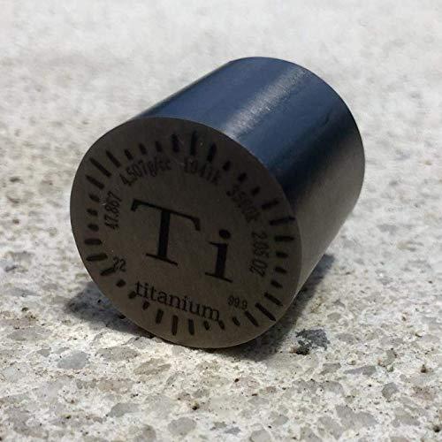 Cilindro de titanio (Ti) de 2,05 onzas (aprox 64gramos) con