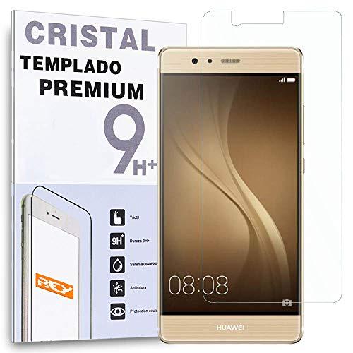 REY Protector de Pantalla para Huawei P9 Plus Cristal Vidrio Templado Premium