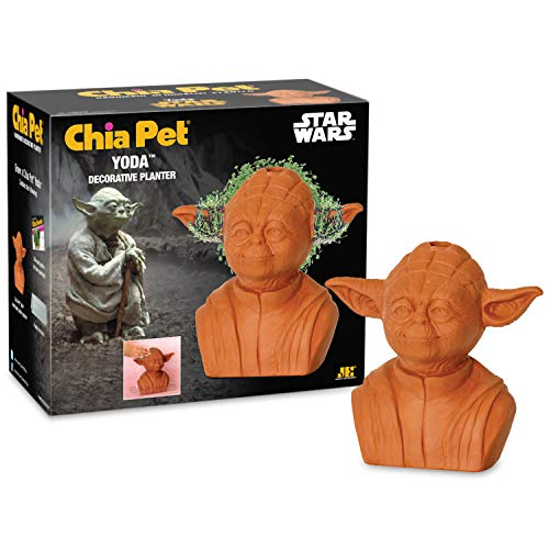 Chia Pet Star Wars Yoda with Seed Pack, Decorative Pottery Planter, Easy to Do and Fun to Grow, Novelty Gift, Perfect for Any Occasion