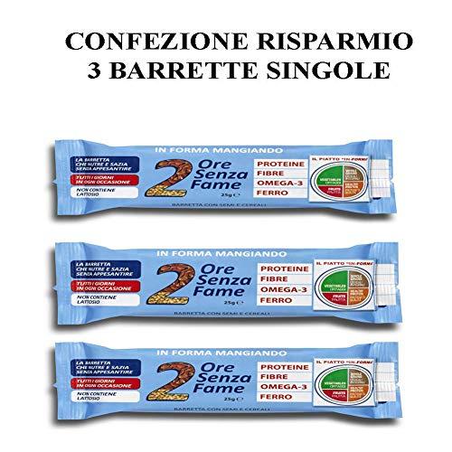 Rilevo- 3 Confezioni Singole di Barrette Spezzafame- 2 Ore Senza Fame 25 gr (3x25 gr)