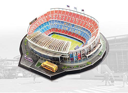 3D puzzle for adults or children, European football stadium colorful model...