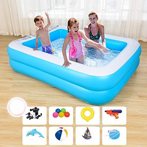 ZGGYA 2020 New aufblasbarer Swimmingpool Isolierung Baby-Kind-Baby-Swimmingpool Zwei Ring verdickte blau und weiß Anzug aufblasbarer Swimmingpool (Größe : XL)