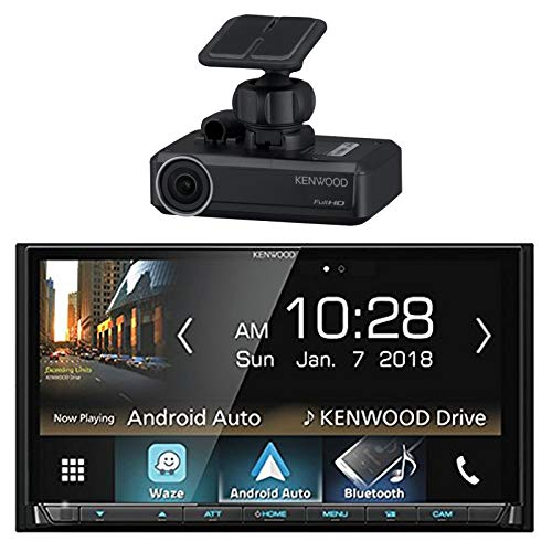 Price comparison product image Car Audio Package: Kenwood DMX7704S 2-DIN Digital Media Receiver with Bluetooth & HD Radio,  with Kenwood DRV-N520 Drive Recorder Dash Camera