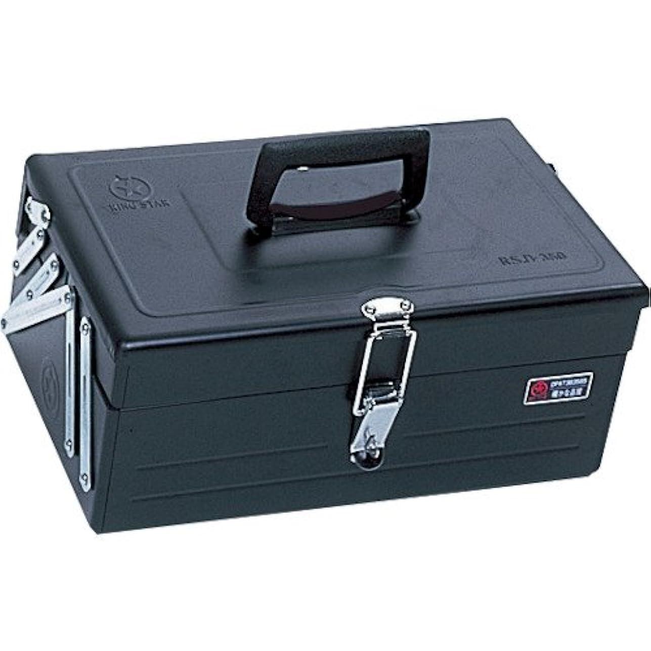 世界くつろぐ限りなくリングスター 2段式ボックス スチール製 ブラック RSD-350 【L350×W200×H150mm】