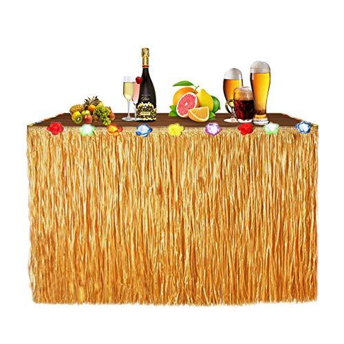 HomeMall Hawaii Luau Tischröcke Party Deko,für Hawaii Tiki Bar BBQ Tropischen Garten Strand Sommer Tiki Party Geburtstag Dekoration