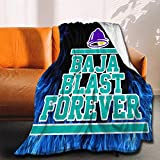 Taco Bell Ba-ja B-Last Forever Blue Flame Flannel Throw Big Blankets Ultra Soft Bedspread Fleece Lightweight Quilt Durable Home Decor Perfect for Couch Sofa Outdoor Medium 60 x 50 Inch(Travel) Teens