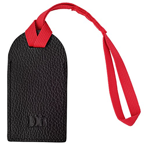 Douchebags The Expeditionist Luggage Tag - Black PU