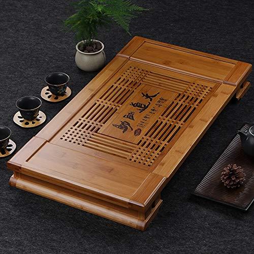Feixunfan Chinese Kung Fu thee lade Bamboe Gongfu Chinese traditionele snijlade thee lade theepot Cup statief geschikt voor kantoor gebruik tearoom traditionele Chinese thee bamboe schotel