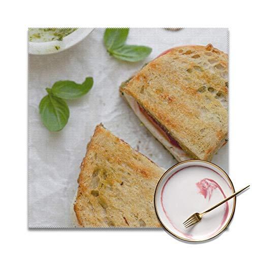 Tovagliette all'americana Grilled-Mozzarella-Sandwich-8,...