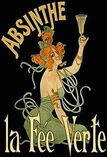 Bidesign Absinthe la Fee Verte Metal Tin Sign Custom Metal Sign 8X12in-Bar Cafe Restaurant Home Decor