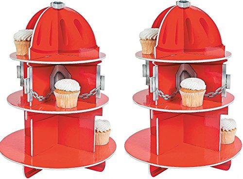 Fun Express Fire Hydrant Cupcake Holder Stand(2pk)