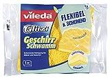 Vileda Glitzi Geschirrschwamm mit Zitrusduft für die schonende Geschirrreinigung