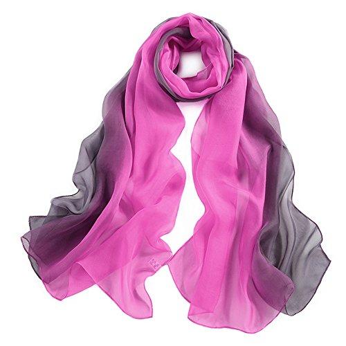 pañuelo de seda Mujer 100% seda Mantón Bufanda Moda Chals Señoras Elegante Estolas Fular 70,8