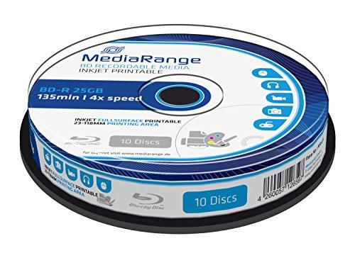 MediaRange MR496 BD-R da 25 GB, 10 Pezzi