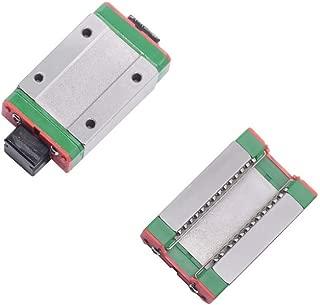 MGN9H Linear Rail Guide Block, MGN9H Mini Linear Motion Guide Rail Slider Bearing Steel Sliding Block