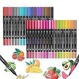 36 Farbe Filzstifte, AUDUU Dual Brush Pen Set für Bullet Journal Zubehör, Fineliner Set,...