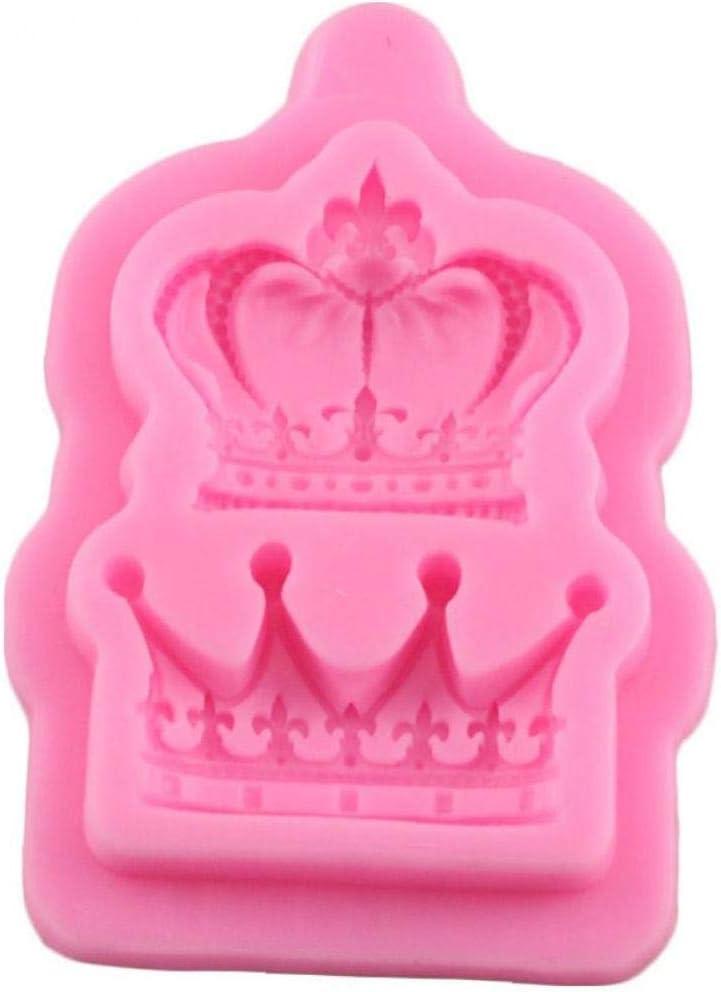 Reine De La Couronne 1pc Casecover Couronnes De Princess Reine Moule en Silicone 3D Fondant G/âteau De Petit G/âteau Outils De D/écoration Argile R/ésine Bonbons Moule