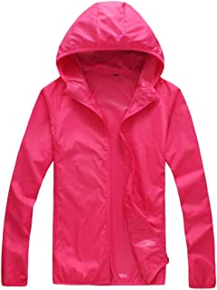 Women Pure Color Coat Outdoor UV Protective Unisex Hooded Jackets